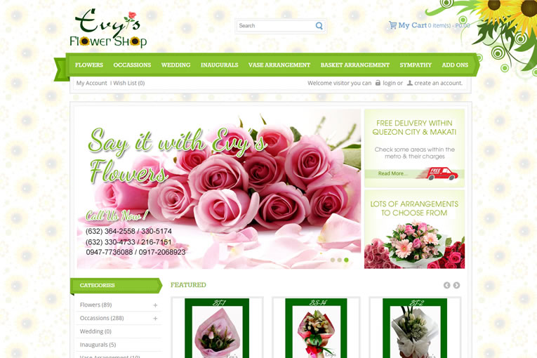 Evysflowers.com | Web Design Philippines | Projects | title | flowers web